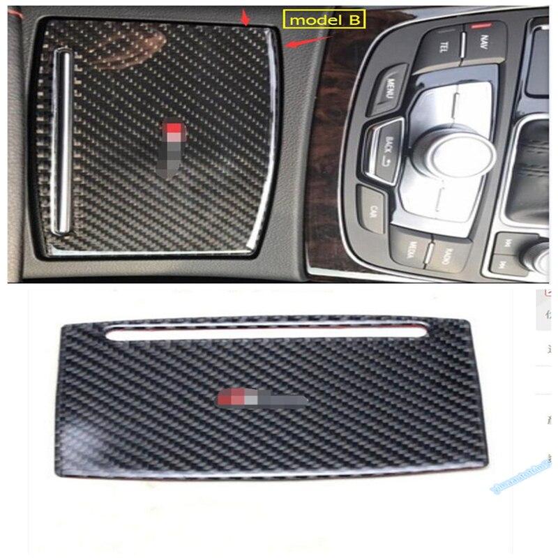 1498ac4e1 الكربون الألياف لأودي A6 A7 2013-2017 عالية الجودة الأكشاك ذراع التروس مربع  مقبض ناقل الحركة والعتاد زخارف اللوحات غطاء تقليم