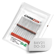 (100個) BAV21小信号高速スイッチングダイオード軸250mA 200 220vは-35 (DO-204AH) 250ミリアンペア200ボルト