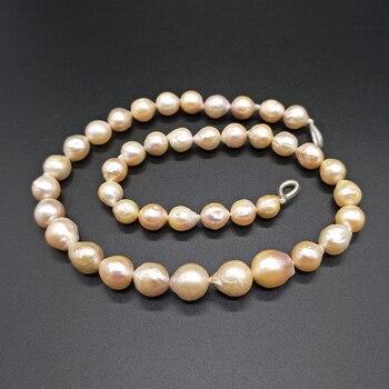 5a1b87f879d6 Shuangsheng nuevo redondo Edison Perla Rosa y blanco 8-11mm perlas de agua  dulce natural