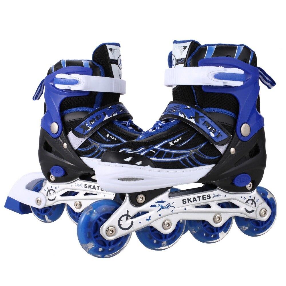Unisexe Skate Chaussures Intérieur Extérieur Rouleau PU Roue Pour Inline SkateChildren Traceur Réglable