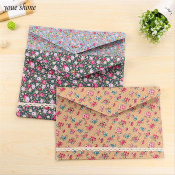 1Pcs/lots Cute A4 examination  Paper Bag Cloth File Bag A4 Small Fresh Floral Stationery  Bags Fabrics Buckle Storage Supplies цена 2017