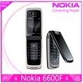 100% original del teléfono nokia 6600 fold 6600f teléfono celular púrpura, azul, color negro en Stock Freeshipping