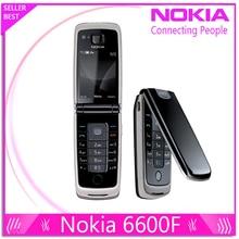 6600F 100% teléfono original Nokia 6600 Fold teléfono celular Púrpura, azul, color negro en Stock Freeshipping