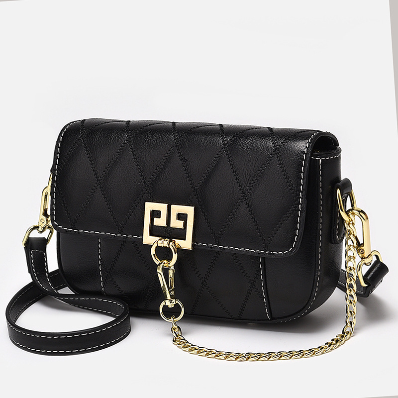 Unique Designer Metal Chain Lock Diamond Lattice Shoulder Messenger Bags Luxury Fashion Ladies Women Handbags