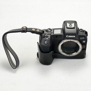 Image 3 - حقيبة كاميرا كانون EOS R ، جلد طبيعي ، نصف جسم ، فتحة بطارية