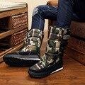 2016 Novos Homens Botas Botas de Inverno Moda Casual Quente Bota Masculina espessamento Antiderrapante Sapatos Resistentes Ao Desgaste Botas De Neve Homens Camuflagem sapatos