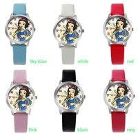 ot02 2017 children snow white cartoon watch Fashion brand watches casual quartz watches gif watch for kid hot sale