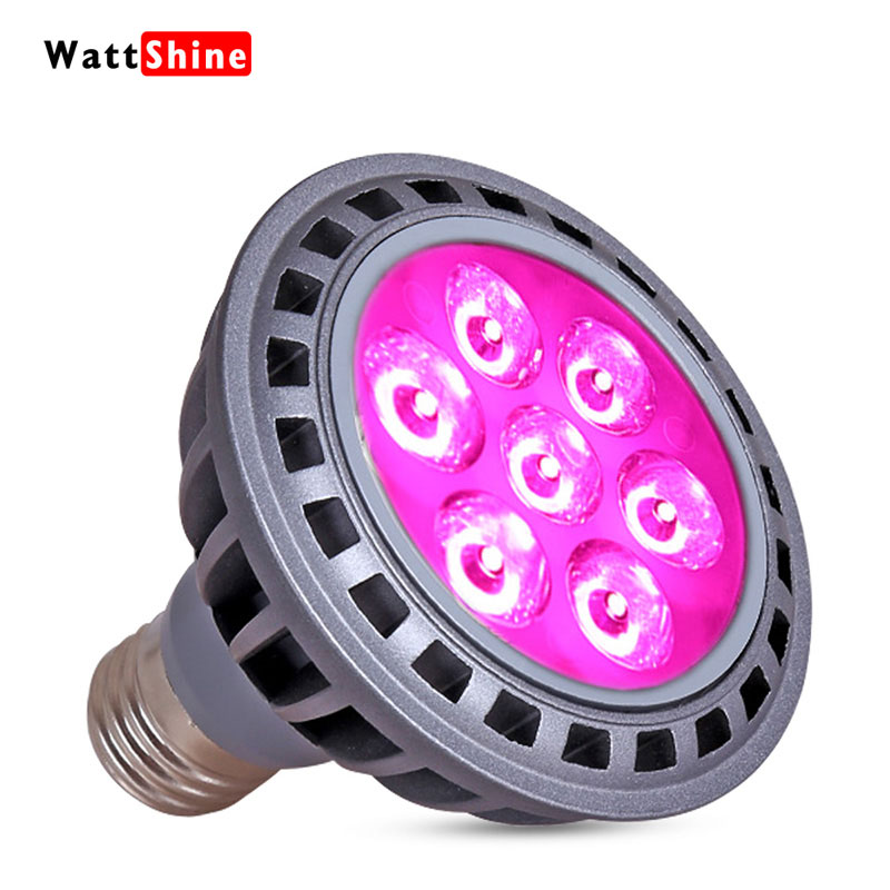 21W Fill Lamp E27 Connector Free Shipping Using Houseplant Grow 3W Chips Flower Fungi Plant Hyperchromic Extended Flowering