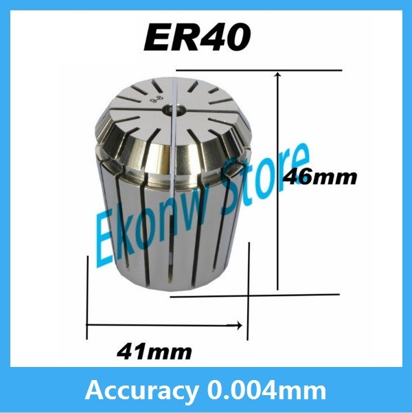 High precision ER40 Accuracy 0.004mm Spring Collet For CNC Milling Machine Engraving Lathe Tool Free Shipping useful 15pcs set 2mm 16mm er25 precision spring collet for lathe chuck for cnc milling engraving machine best price