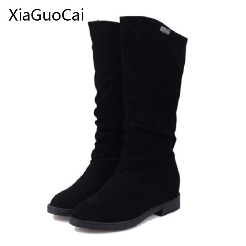 1 2 Mode Pour 3 Femmes talon 4 Bottes Automne Haute Genou Qualité X610 50 cuir Pu De 2015 5 vnwm80NO
