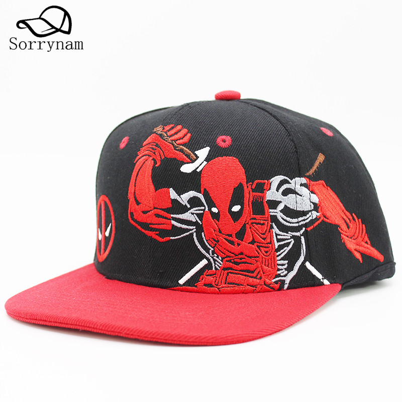 Deadpool New Brand Print Snapback Hat Men Women Couple Baseball Cap Gifts Fashion Hip-hop Caps Adjuatable Unisex Hats 2016 new unisex solid knit beanie hat winter sports hip hop caps for men and women bonnet gorros 20 colors for choose