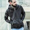 2017 nuevo MEJOR TEMPORADA de gran tamaño pullover hombres sudadera con capucha de hip hop Kanye West trasher TEMOR DE DIOS LOS HOMBRES HBA Cremallera Sudadera