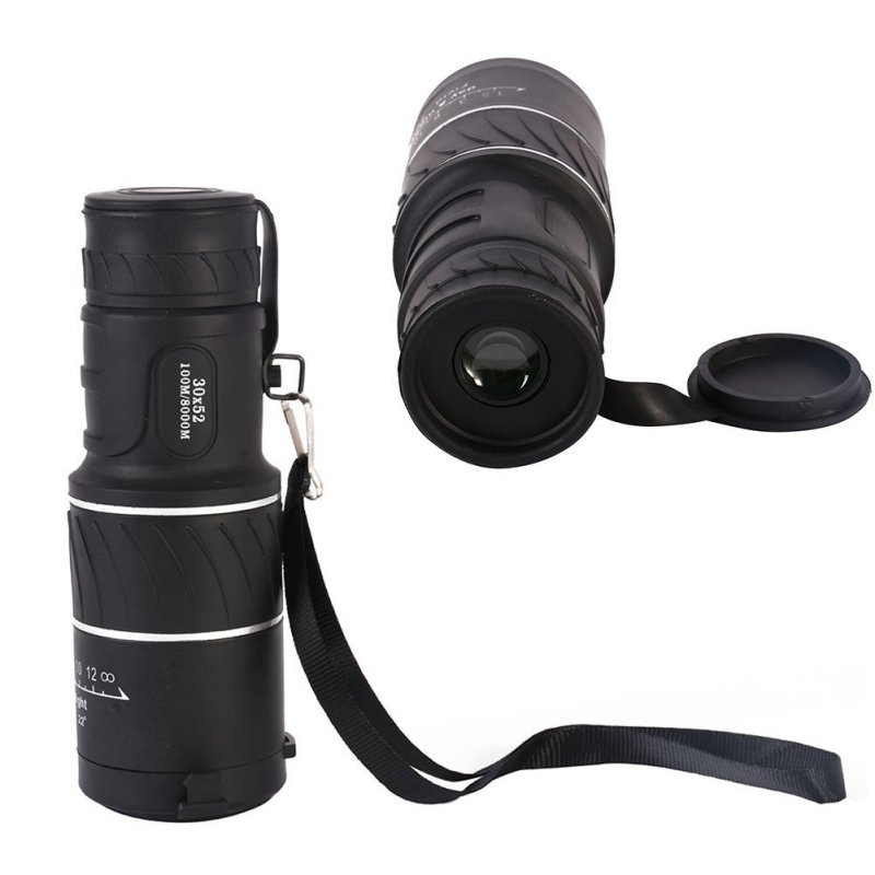 Monocular 66M-8000M View Field 30X Magnify Telescope 20X52 Lens Binoculars Double 2 Focus Dual Twist-up Eyecup ...
