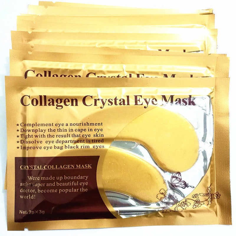 1 ペアコラーゲンゴールドマッサージマスク保湿クリーム抗くまアンチアイパッチのための目のケア