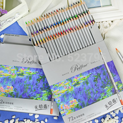 Новинка 2015 высокое Quality24 36 48 72 Цвет Марко Изобразительное искусство рисования маслом Base Нетоксическо набор карандашей для художника Эскиз Бесплатная доставка
