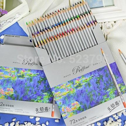 Nova alta quality24 36 48 72 cor marco arte fina desenho base de óleo não-tóxico lápis conjunto para o artista esboço frete grátis