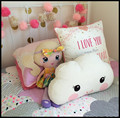 2017 New 40X26CM Lovely White Smile Face Cloud Pillow Cartoon Cotton Baby Kids Decorative Cushion For Room Bed Toy Stuffed Plush
