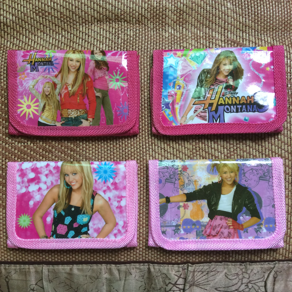 New Random 1pcs Hannah Montana Wallets Purse Coin Bag Plastic Toy For Girl