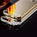 Marca de luxo premium espelho case para samsung galaxy s6 s6 edge aluminum metal case tampa traseira do telefone móvel para o iphone 6 6 s além de