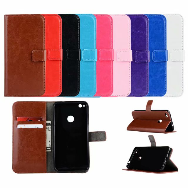 For Huawei P8 Lite 2017 Leather Case Card Slots Wallet Phone Cases Back Cover Stand Holder Book Coque Bag