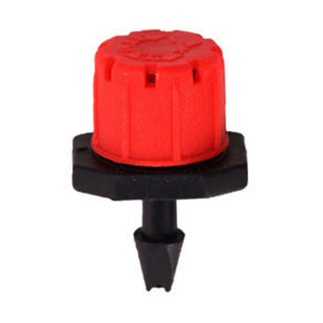 100 Pcs Adjustable Garden Irrigation Misting Micro Flow Dripper Head Drip System On 1/4″ Barb watering