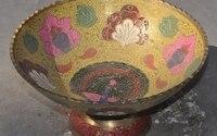 """10 """"çin sarayı saf bronz Çiçek Tavuskuşu Meyve kase Çanak Yakışmak Meyve tabağı plates flower plate fruitplate bowl -"""