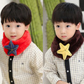 Новый стиль детская мода шарф высокое качество материал плюша симпатичные морская звезда детские шарф