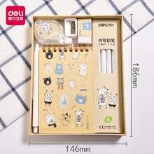 Мультяшный Канцелярский набор, Подарочная точилка для карандашей, ластик, блокнот, милые Креативные принадлежности для письма