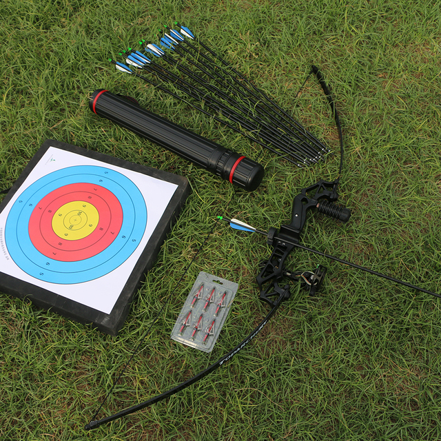 Archery Professional Recurve Bow Takedown Hunting Bow Metal Riser 40lbs Right Handed