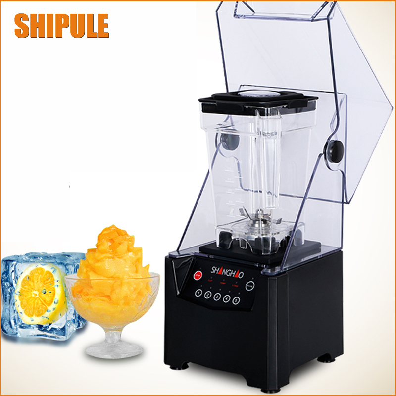 Commercial Blender Mixer Juicer Power Food Processor Smoothie Bar Fruit Electric Blender ice crusher jiqi commercial ice smoothie blender food mixer juicer electric fruit juice extractor multifunctional soy milk machine 110v 220v