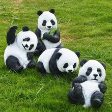 Имитация панды изделия из смолы открытый сад пейзаж скульптура животных украшения парк газон украшения гостиной модель подарки