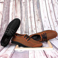 HECRAFTED Summer shoes men Fashion Size 37~46 Comfortable Breathable Casual shoes #AB702