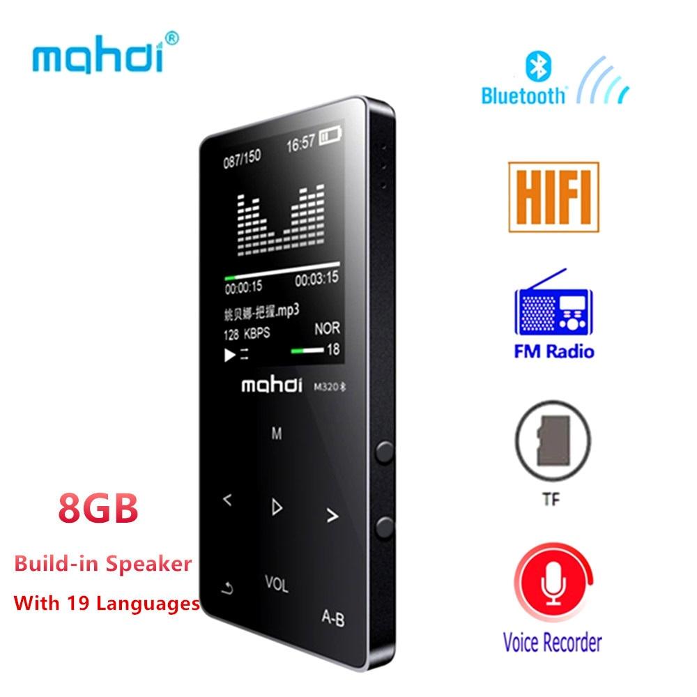 Bluetooth Mp4 reproductor 8 GB FM Radio Digital MP3 MP4 táctil Video Mini sin pérdidas grabadora de voz reproductor de música Multi idioma