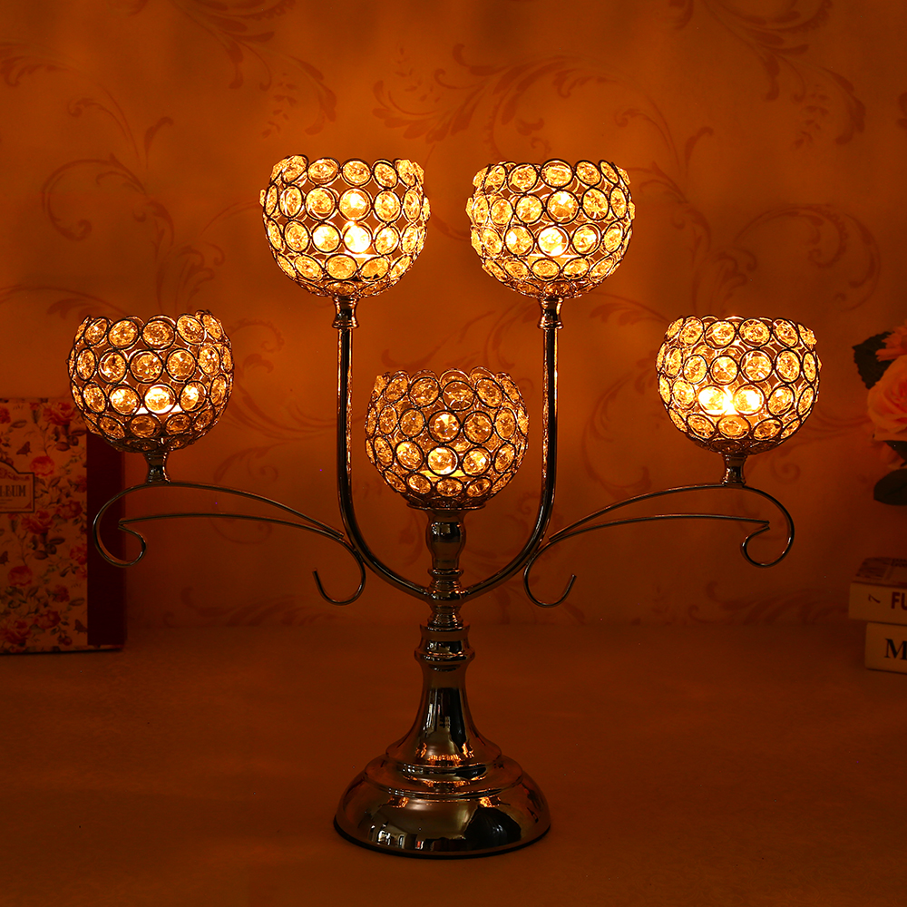 Decorative Pillar Crystal Candle Holders Table Decoration Centerpieces For  Dining Room Wedding Home Decor In Candle Holders From Home U0026 Garden On ...