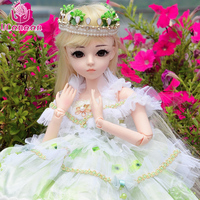 UCanaan Princess 60CM BJD Doll New Arrival 1/3 BJD SD Dolls With Full Outfits Makeup Children Birthday Gifts Kids Toys