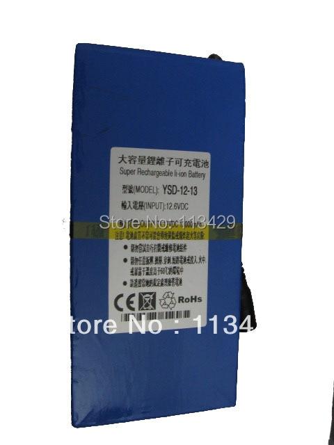 Free  DC 12V battery,13000 Mah capacity high volume lithium battery pack smart power battery YSD-12-13
