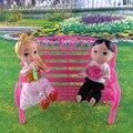 Симпатичные Пластиковые Куклы Скамейке Кукла Фурнитура Barbie Doll Маленький Табурет Детей Подарок для Ребенка Дети Toys Кукла Аксессуары