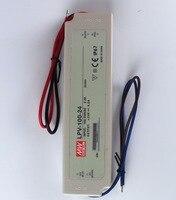 Brand New Mean Well 100 watt led waterproof power supplies neon tranformers adapter 24v dc driver lpv 100 24 4.2A for lights
