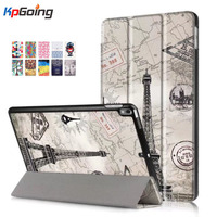 For New IPad Pro 10 5 Inch Case Ultra Slim Vintage Painted Case 3 Folding Stand