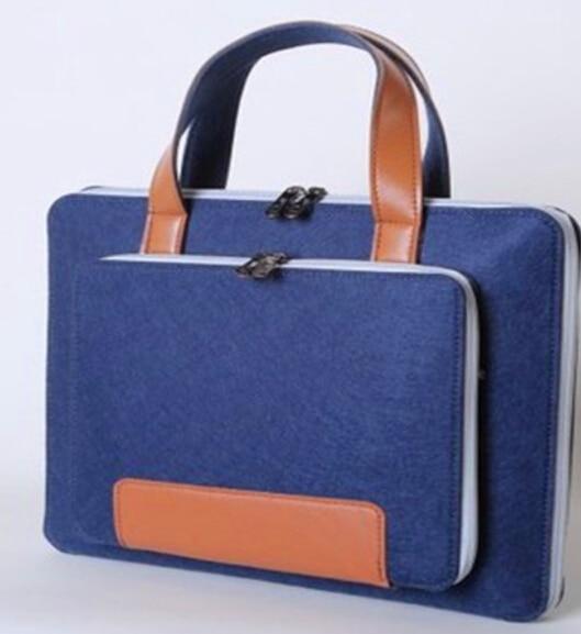 Wool Felt Laptop Sleeve Bag12 13 15 17 Inch Briefcase Hand Bags for Macbook Notebook Wear-resistant Notebook Liner Package