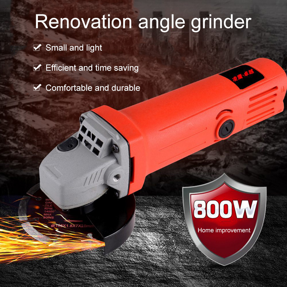 800W M10  Single-speed Angle Grinder Cordless Electric Grinding Machine Tool For Milling Polishing Drilling Cutting Engraving