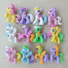 12pcs different styles my little  unicorn pony Horse action figure anime toys Collection Model Doll christmas gift