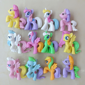 12pcs different styles my little  unicorn pony Horse action figure anime figure toys Collection Model Doll christmas gift 1 6 germany hannover hanoverian 002 horse model collection horse figure model for 12 action figure collection
