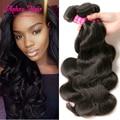 Aphro pelo onda del cuerpo del pelo brasileño barato 3 unids lot cheveux bresilien pelo virginal brasileño onda del cuerpo de remy del pelo humano extensiones