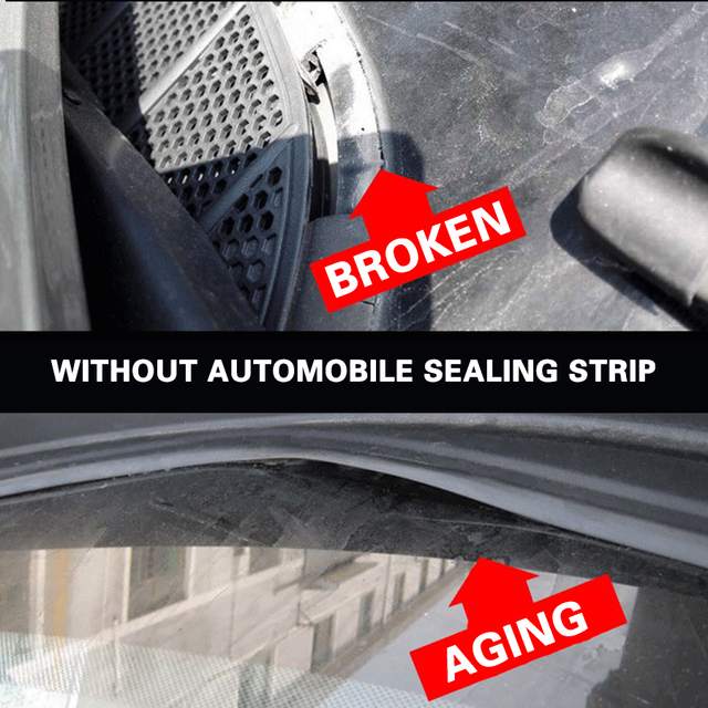 1,7 M coche limpiaparabrisas panel moldeado tablero tira de sellado para Mitsubishi Lancer ASX Pajero X Ford Focus 2 3 Fiesta Citroen C4 C5