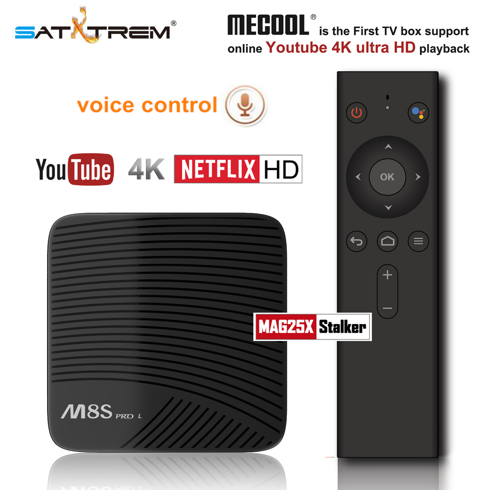 Mecool M8S PRO L Commande Vocale Smart TV Box Android 7.1 Amlogic S912 2 gb/3 gb DDR3 16 gb/32 gb Octa Core Bluetooth 4 k Set-top Box