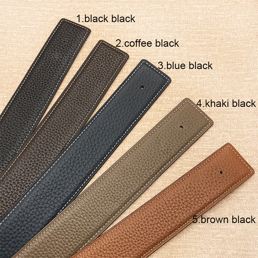 2020 WITHOUT BUCKLE 3.2cm Ciartuar New Design For Men Women Belt High Quality Cowskin Genuine Leather Two Sides Free Shipping