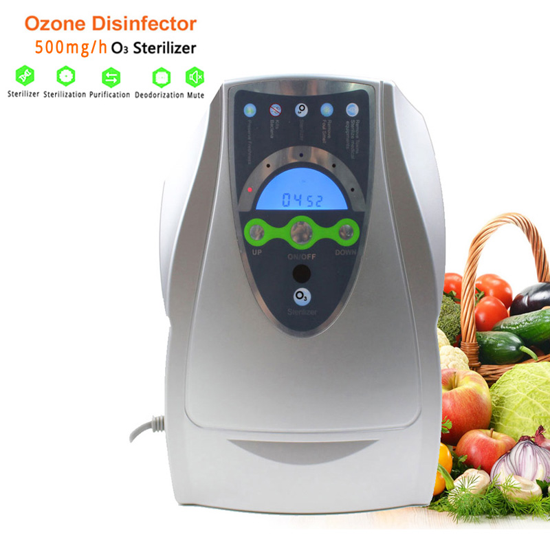 500mg Ozone Generator Home Air Purifier Portable Ozono Generator for Fruit Vegetable Water Sterilizer Ozonizer Air Cleaner self powered water ozone generator ozonizer household faucet tap o3 water filter purifier wash fruit vegetable face sterilizer