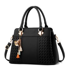 Women Bag Vintage Handbag Casual Tote Fashion Women Messenger Bags Shoulder Top-Handle Purse Wallet Leather 2018 New Black Blue недорого
