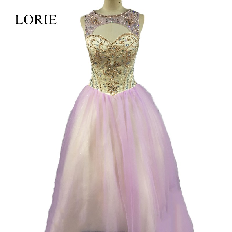 d2f95bd09af Vestidos De 15 Anos Lilac Quinceanera Dresses 2018 LORIE Luxury Crystals  Beading Top Debutante Gowns Girls Sweet 16 Dresses